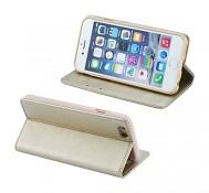 Obal Magnet Book na iPhone 7 Plus knížkový zlatý