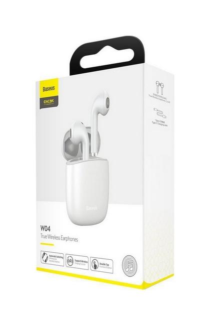 Bezdrátová sluchátka Baseus Encok W04 bílá (5)