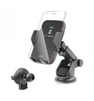 Držák na mobil do auta s funkcí bezdrátového nabíjení
