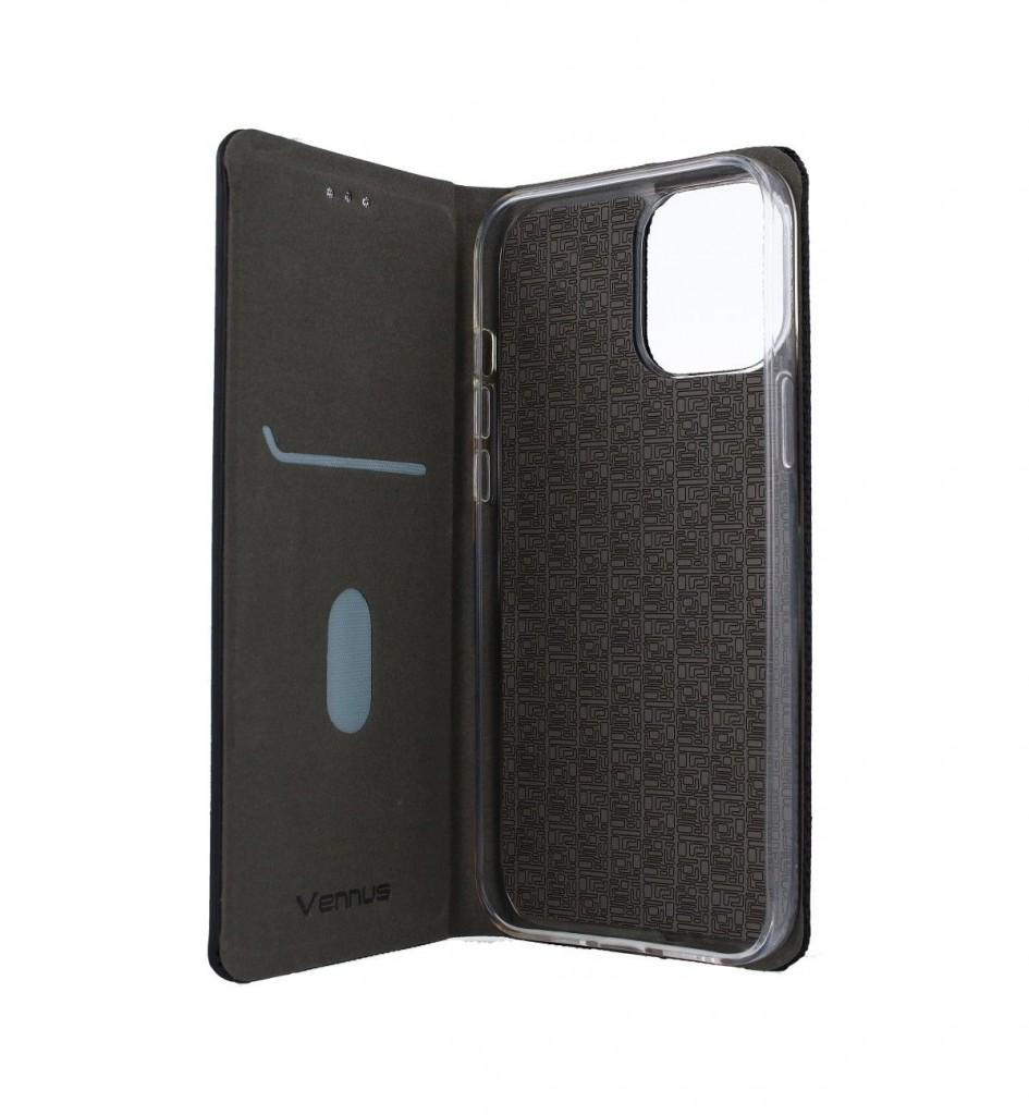 Knížkové pouzdro Sensitive Book na iPhone 12 Pro Max černé (2)