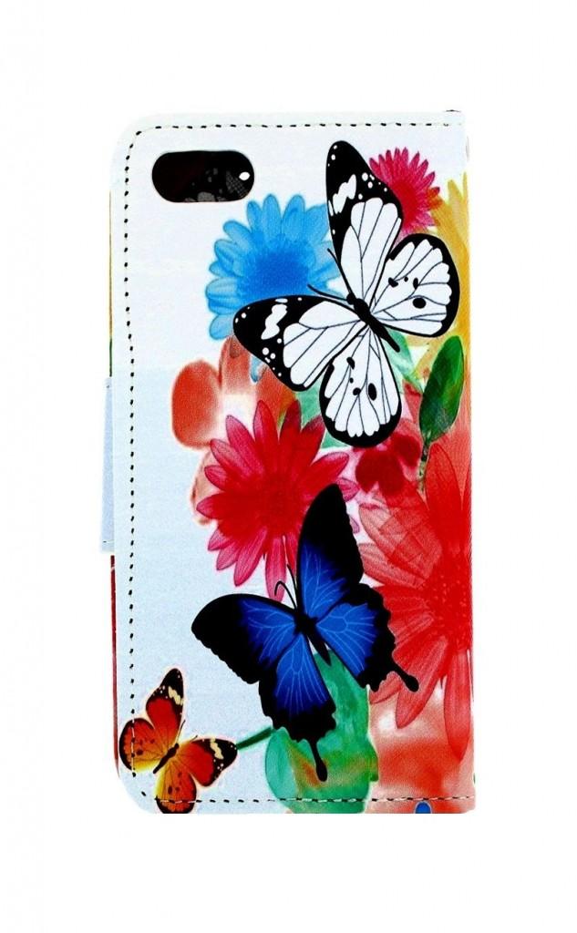 Knížkové pouzdro na iPhone SE 2020 Barevné s motýlky