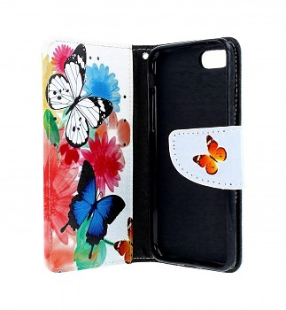 Knížkové pouzdro na iPhone SE 2020 Barevné s motýlky (2)