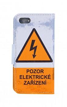 Knížkové pouzdro na iPhone SE 2020 Pozor elektrické zařízení