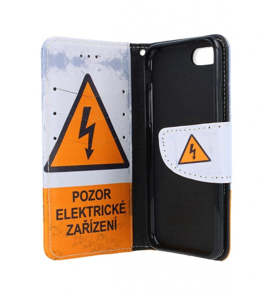 Knížkové pouzdro na iPhone SE 2020 Pozor elektrické zařízení (2)