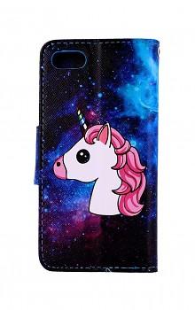 Knížkové pouzdro na iPhone SE 2020 Space Unicorn