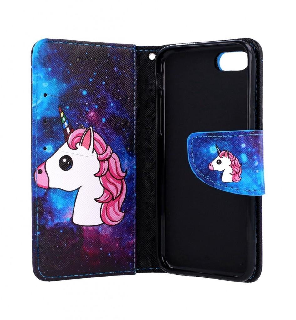 Knížkové pouzdro na iPhone SE 2020 Space Unicorn (2)