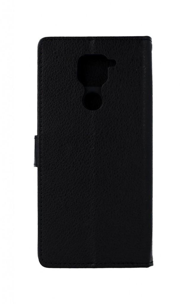 Knížkové pouzdro na Xiaomi Redmi Note 9 černé s přezkou