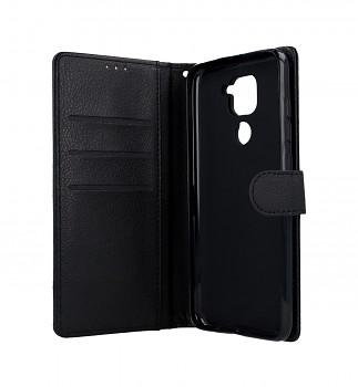 Knížkové pouzdro na Xiaomi Redmi Note 9 černé s přezkou (2)