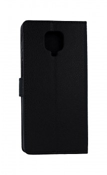 Knížkové pouzdro na Xiaomi Redmi Note 9 Pro černé s přezkou