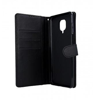 Knížkové pouzdro na Xiaomi Redmi Note 9 Pro černé s přezkou (2)