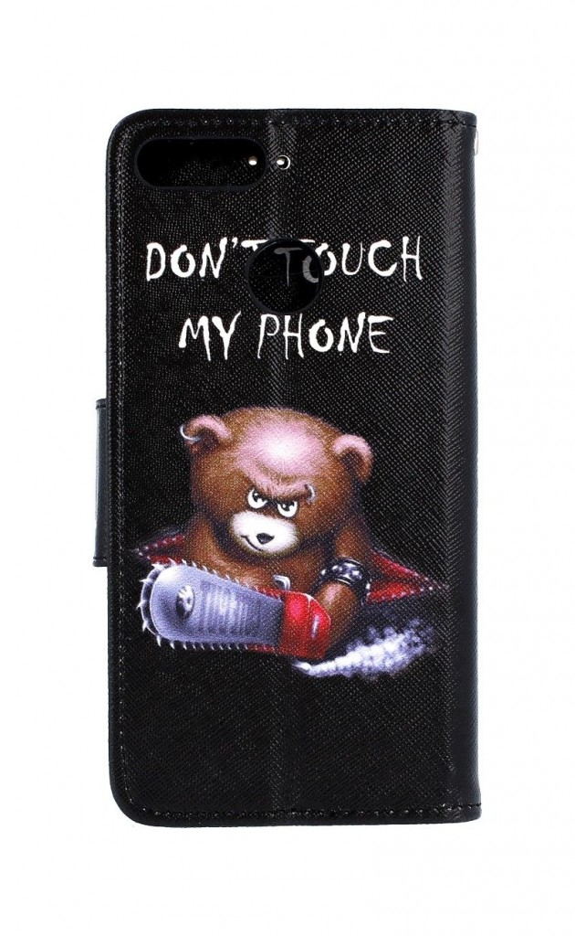 Knížkové pouzdro na Huawei Y6 Prime 2018 Don't touch méďa
