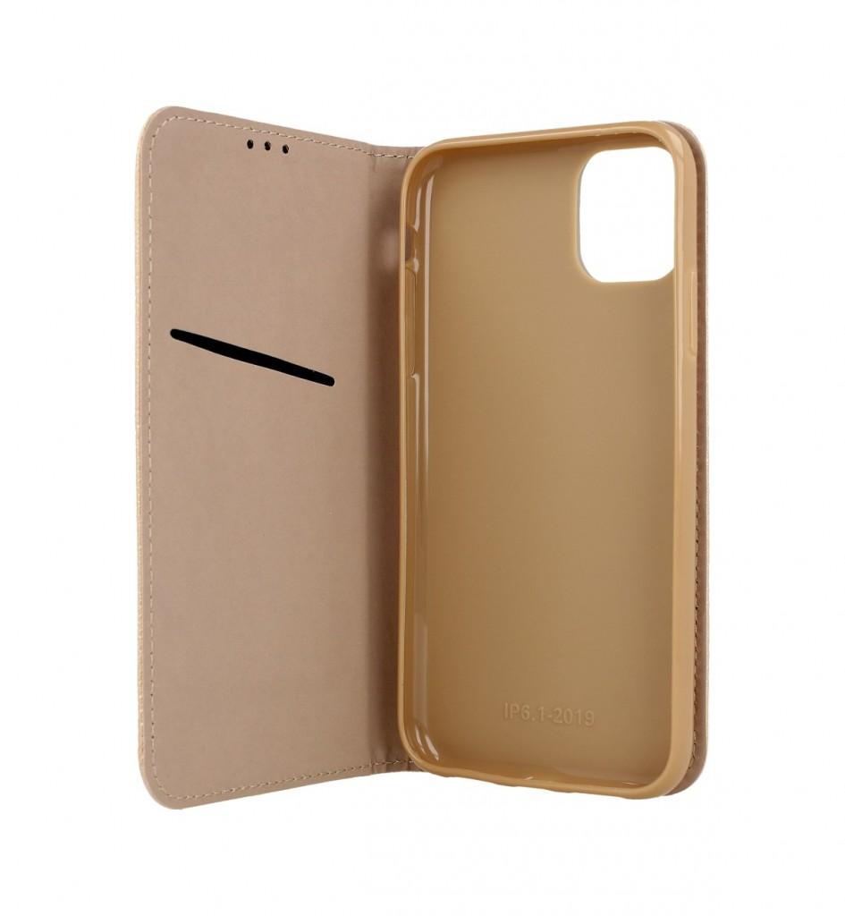 Knížkové pouzdro Smart Magnet na iPhone 12 zlaté 2