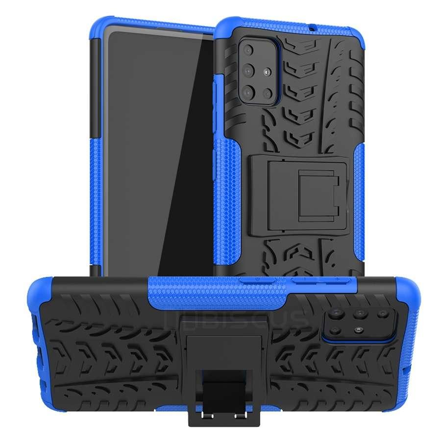 Zadní ultra odolný kryt na mobil Samsung A41 modrý