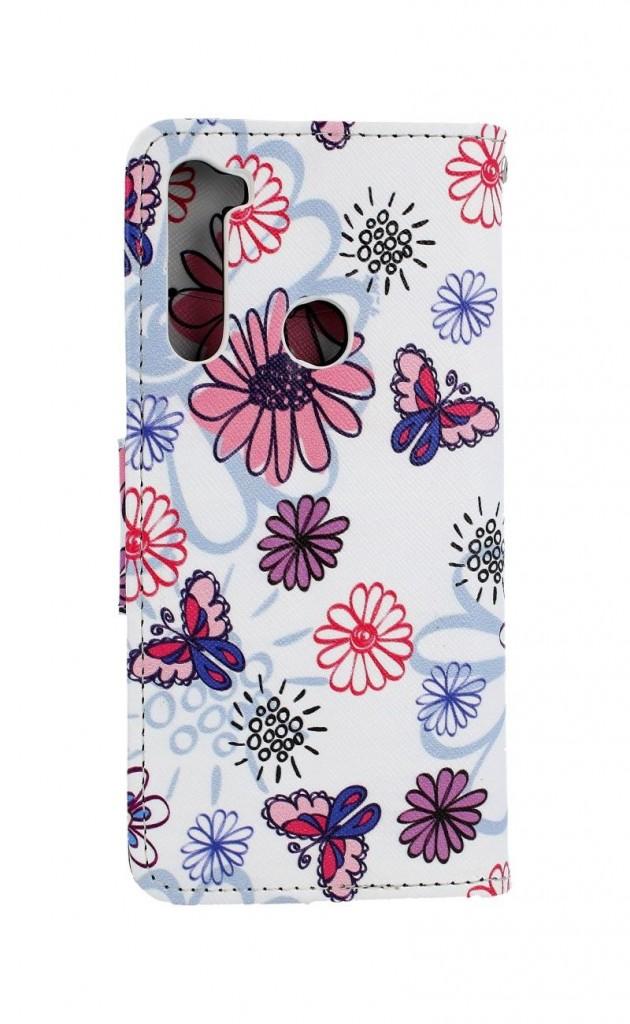 Obal kryt na mobil Xiaomi Redmi Note 8T knížkové Flowers (2)