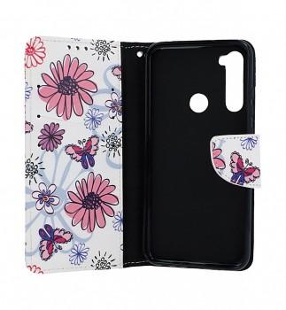 Obal kryt na mobil Xiaomi Redmi Note 8T knížkové Flowers (3)