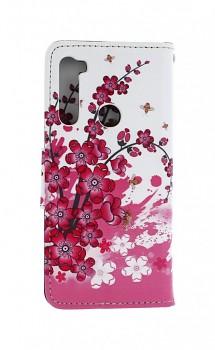 Obal kryt na mobil Xiaomi Redmi Note 8T knížkové Kytičky textil (1)