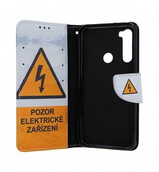 Obal kryt na mobil Xiaomi Redmi Note 8T knížkové Pozor elektrické zařízení (3)