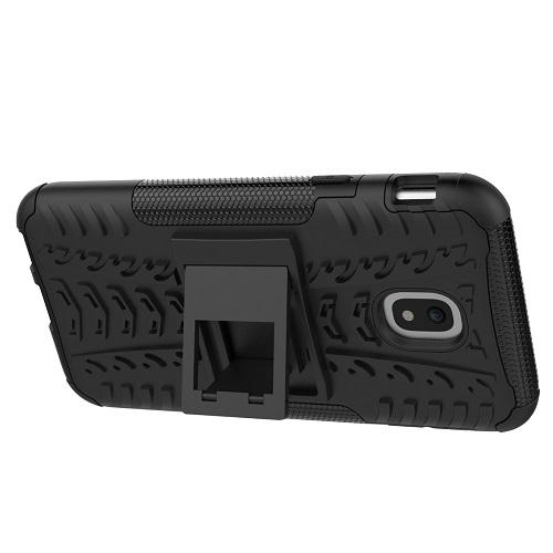 Zadní pouzdro neboli obal Samsung J3 2017 černý se stojánkem 3