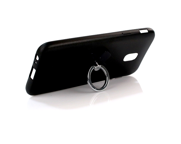 Zadní silikonový kryt X-LEVEL Jelly na Samsung J3 2017 černý s prstenem