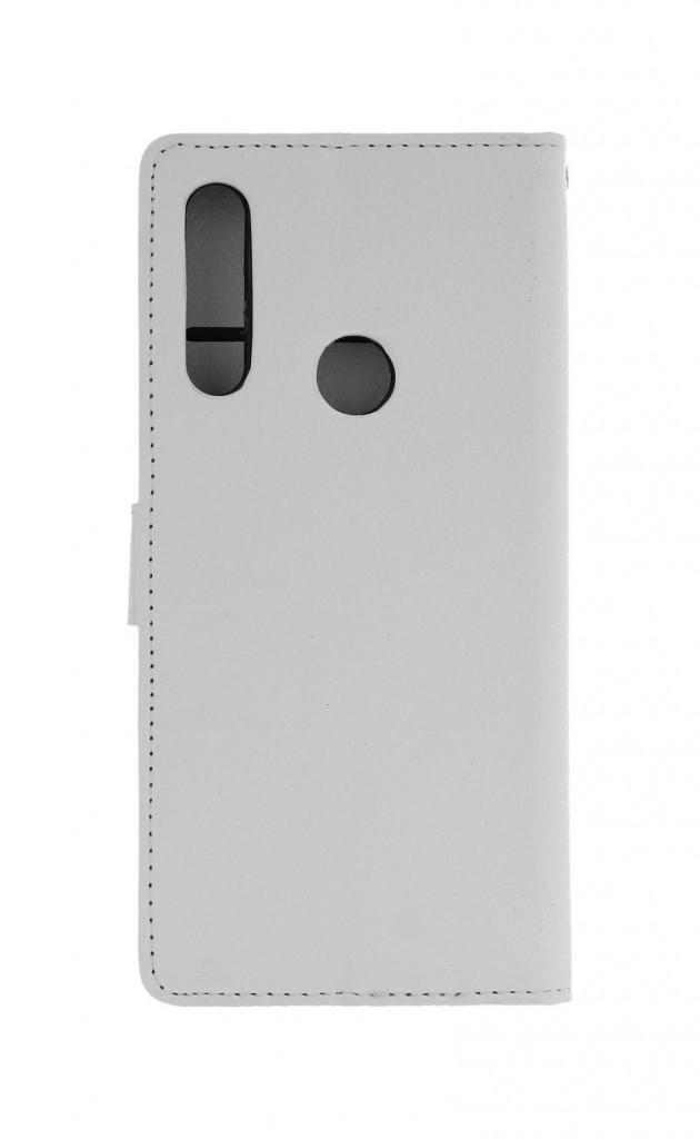 Knížkové pouzdro na Huawei P Smart Z bílé s přezkou