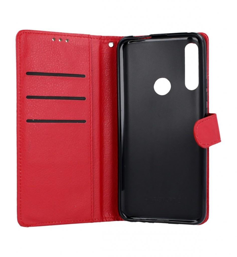 Knížkové pouzdro na Huawei P Smart Z červené s přezkou (2)