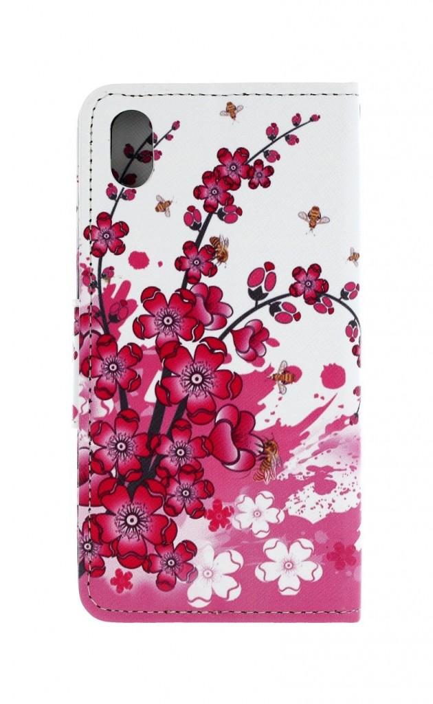 Knížkové pouzdro na Huawei Y5 2019 Kytičky textil