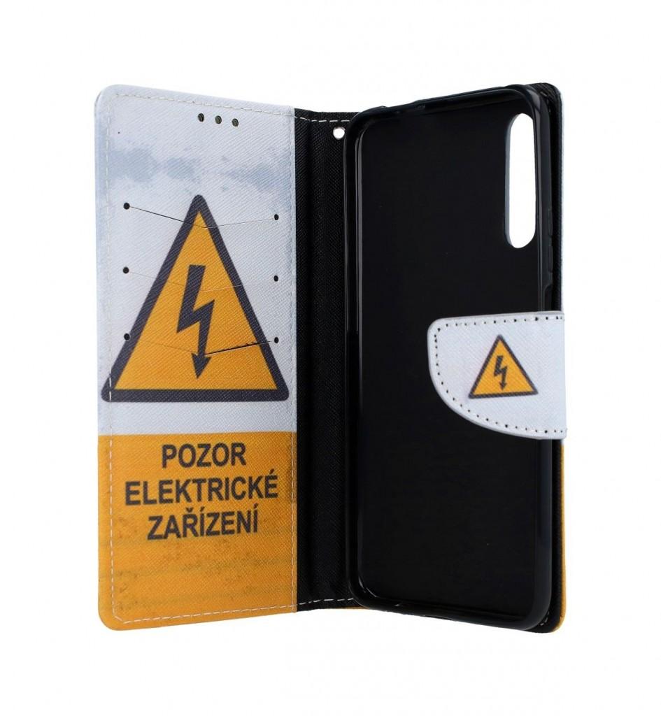 Knížkové pouzdro na Huawei P Smart Pro Pozor elektrické zařízení (2)