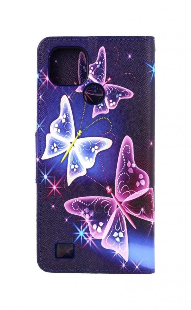 Knížkové pouzdro na Realme C21 Modré s motýlky
