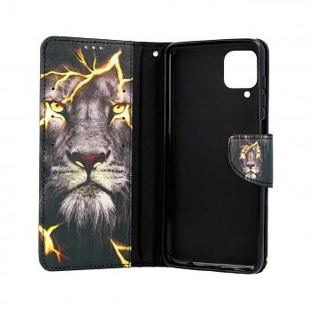 Knížkové pouzdro na Samsung A12 Magický lev (2)