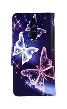 Knížkové pouzdro na Xiaomi Redmi 8 Modré s motýlky