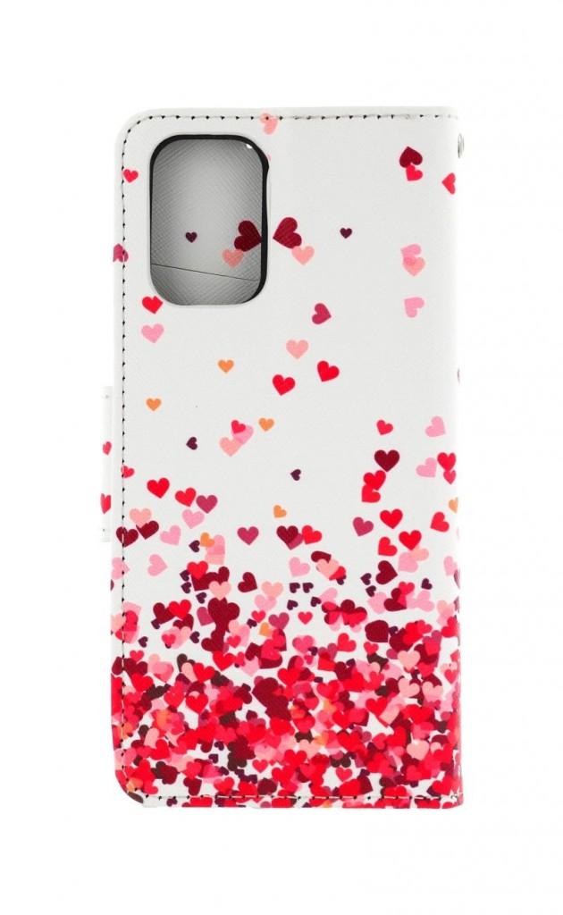 Knížkové pouzdro na Xiaomi Redmi Note 10 Srdíčka