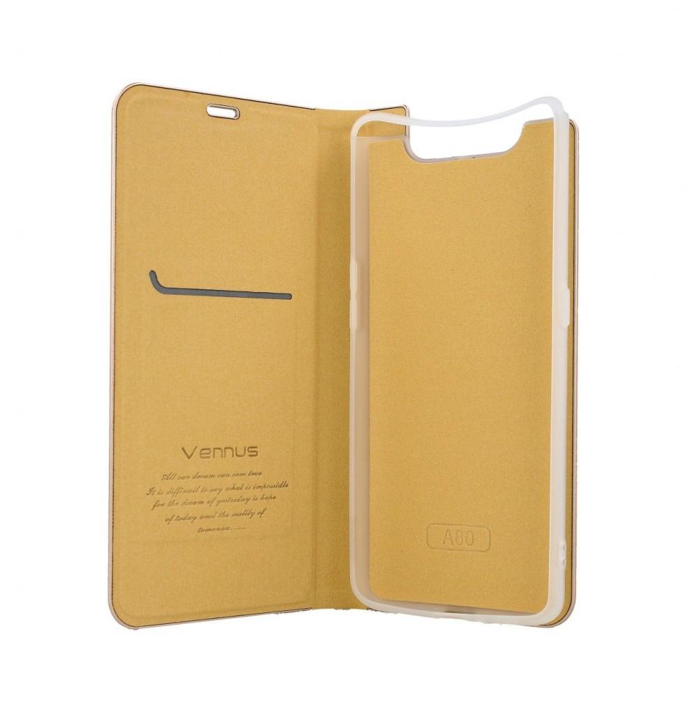 Knížkové pouzdro Luna Book na Samsung A80 zlaté (2)