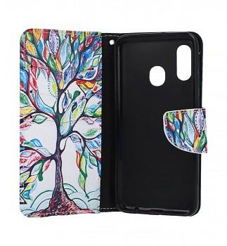 Knížkové pouzdro na Samsung A20e Barevný strom (2)