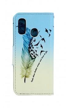 Knížkové pouzdro na Samsung A20e Pírko