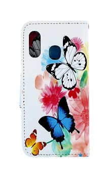 Knížkové pouzdro na Samsung A40 Barevné s motýlky