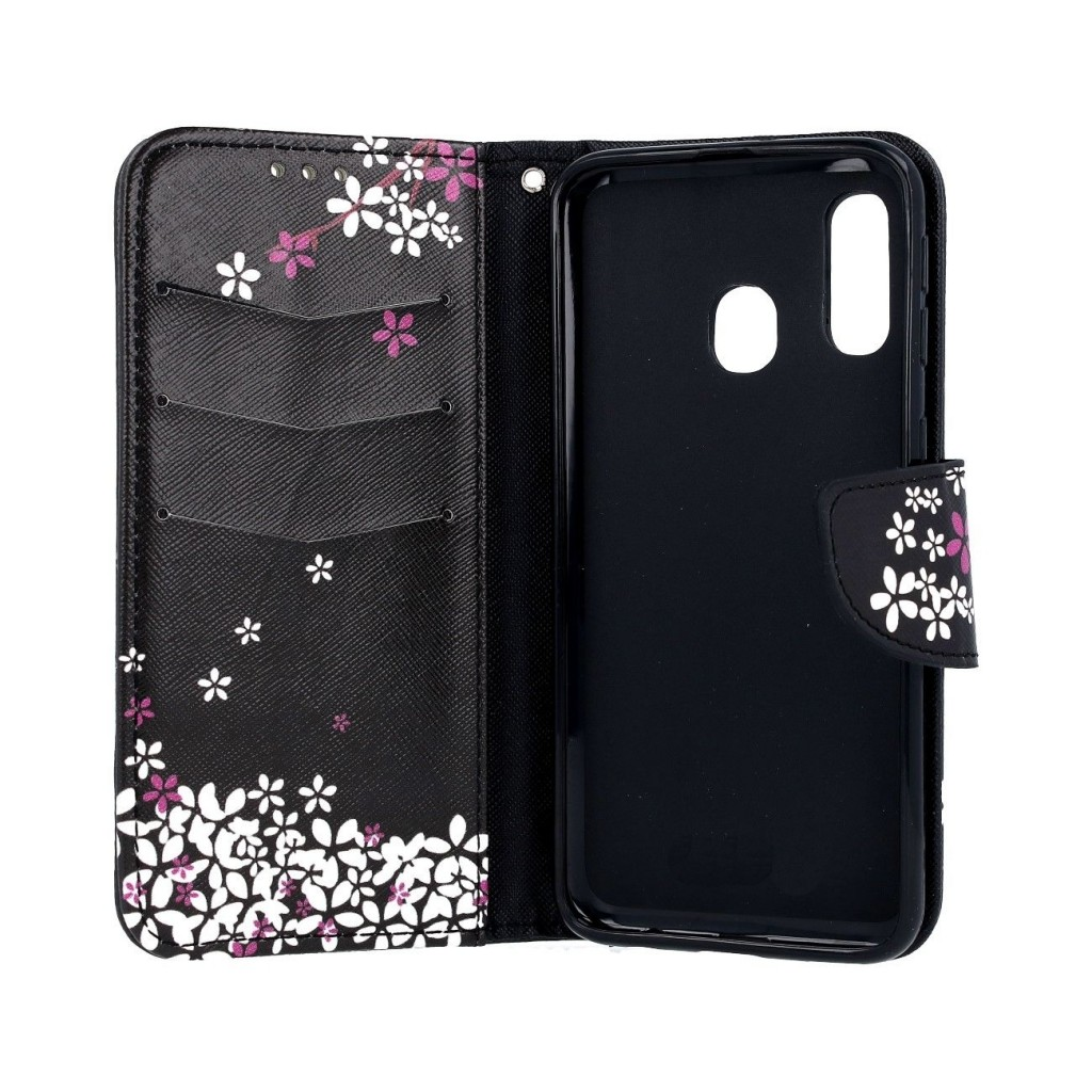 Knížkové pouzdro na Samsung A40 Květy sakury (2)