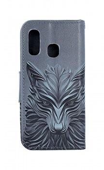 Knížkové pouzdro na Samsung A40 Vlk