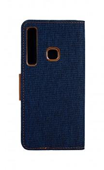 Knížkové pouzdro Canvas na Samsung A9 modré tmavé