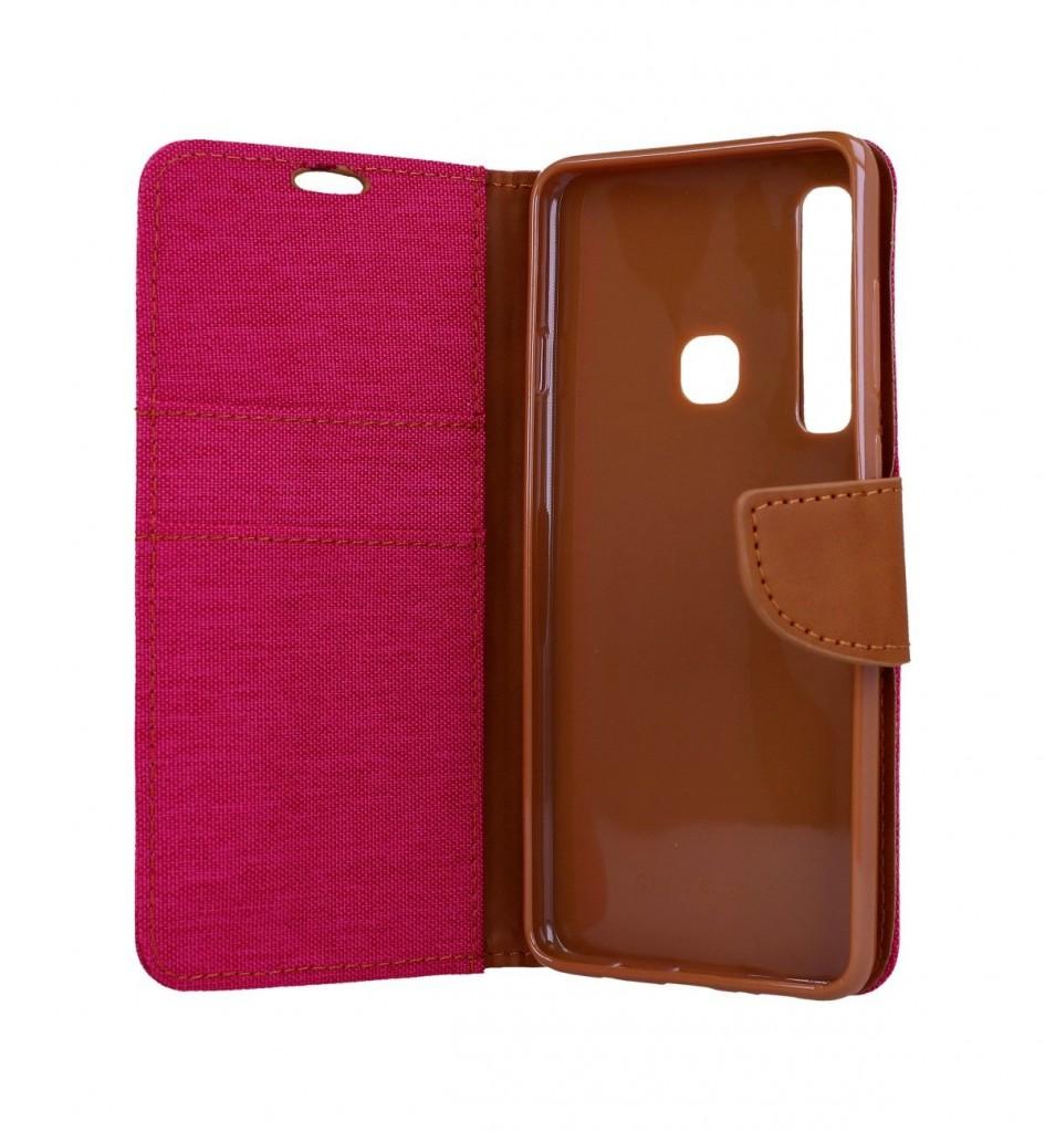 Knížkové pouzdro Canvas na Samsung A9 růžové (2)