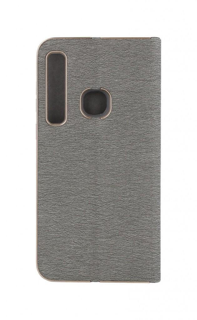 Knížkové pouzdro Luna Book na Samsung A9 stříbrné