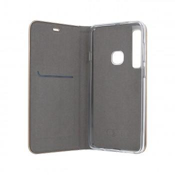 Knížkové pouzdro Luna Book na Samsung A9 stříbrné  (2)
