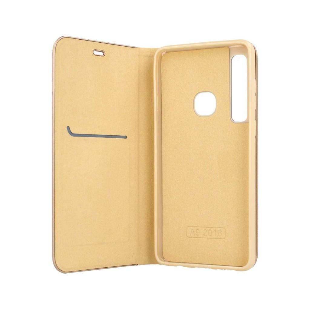 Knížkové pouzdro Luna Book na Samsung A9 zlaté (2)