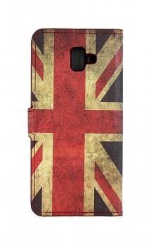 Knížkové pouzdro na Samsung J6+ Anglie