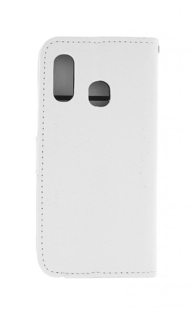 Knížkové pouzdro na Samsung M20 bílé s přezkou
