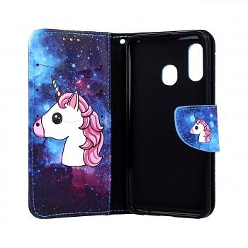 Knížkové pouzdro na Samsung M20 Space Unicorn (2)