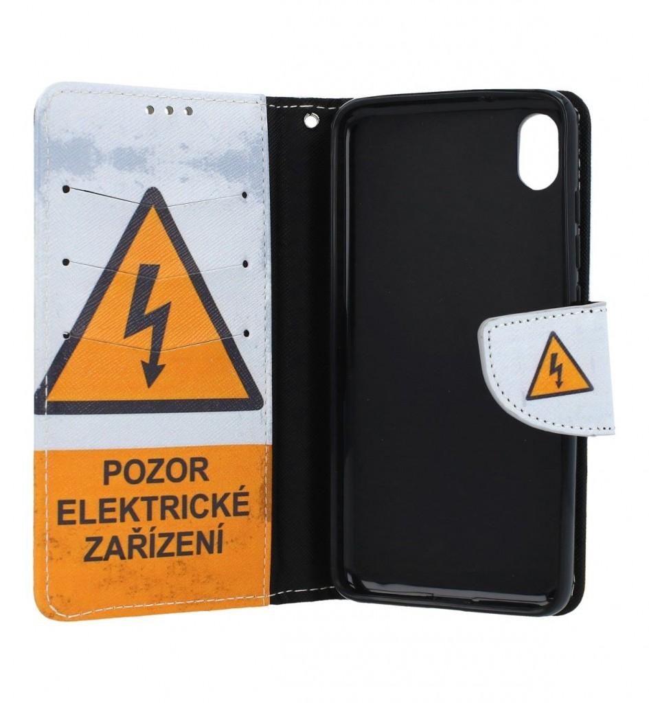 Knížkové pouzdro na Xiaomi Redmi 7A Pozor elektrické zařízení (2)