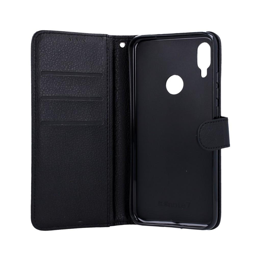 Knížkové pouzdro na Xiaomi Redmi Note 7 černé s přezkou (2)