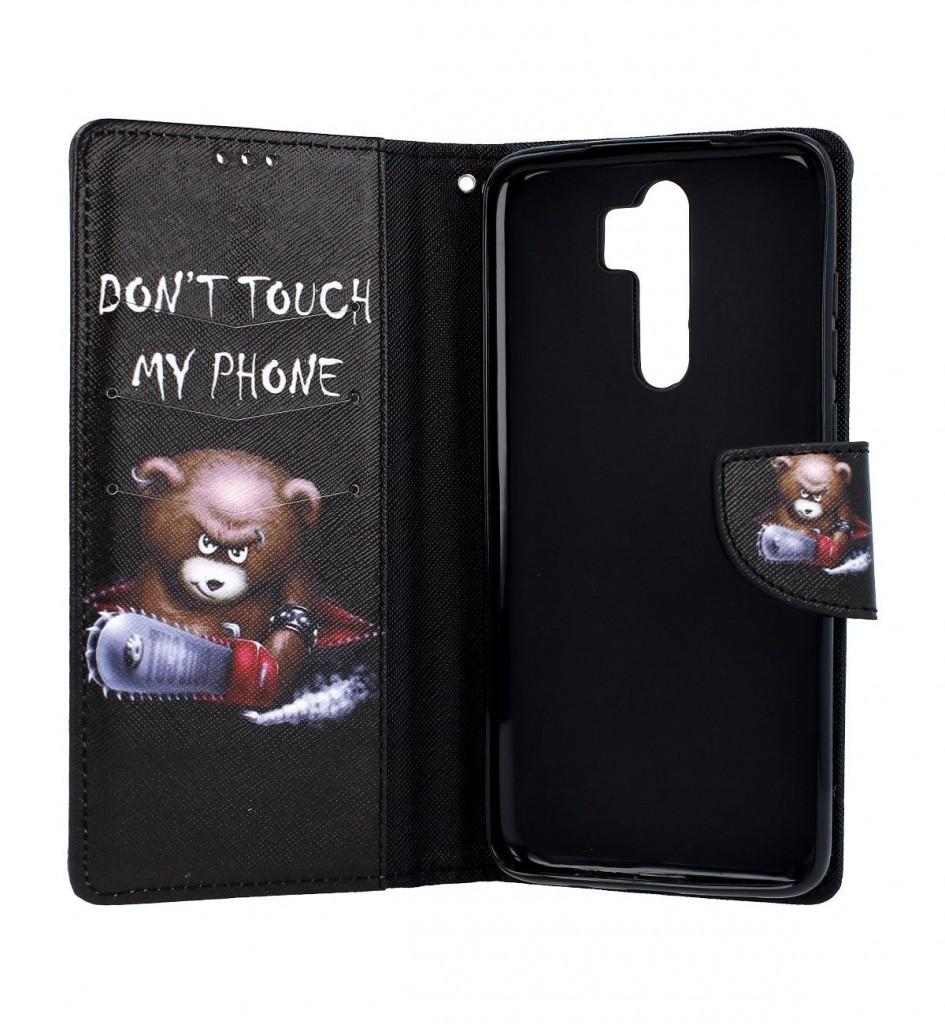 Knížkové pouzdro na Xiaomi Redmi Note 8 Pro Don´t touch méďa (2)