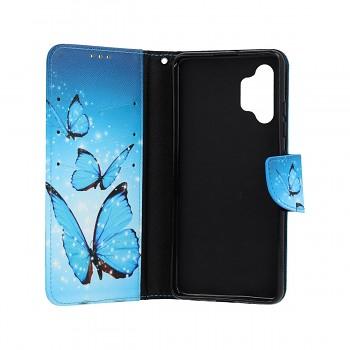 Knížkové pouzdro na Samsung A32 Modří motýlci (1)