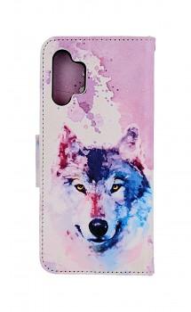 Knížkové pouzdro na Samsung A32 Polární vlk